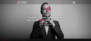 karlos herrero diseno web logotipo senor creativo