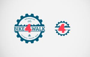 Bike4Walk diseño logo marca reduccion Señor Creativo