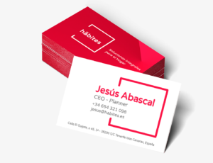 Habites diseño tarjetas de visita señorcreativo